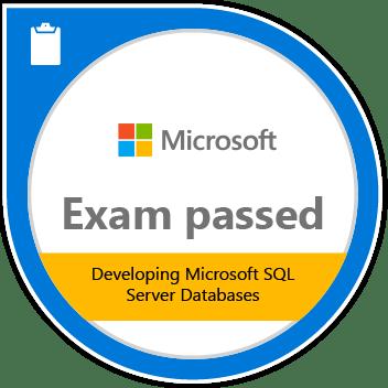 Developing Microsoft SQL Server Databases certification