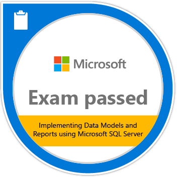 Implementing Data Models and Reports with Microsoft SQL Server certification
